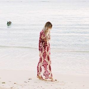 NWT For Love & Lemons Temecula Maxi Dress - Burgen